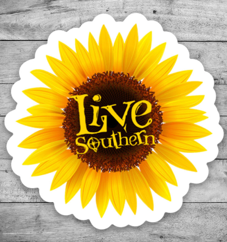 "2"" Sunflower Sticker"