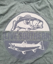 Trout and Bass Fishing Green Short Sleeve