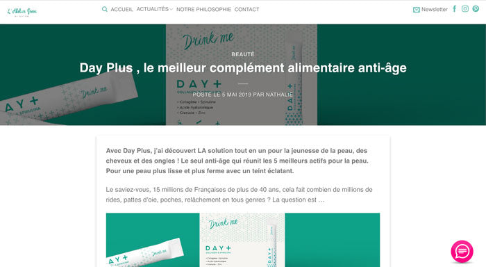 day+ atelier green spiruline