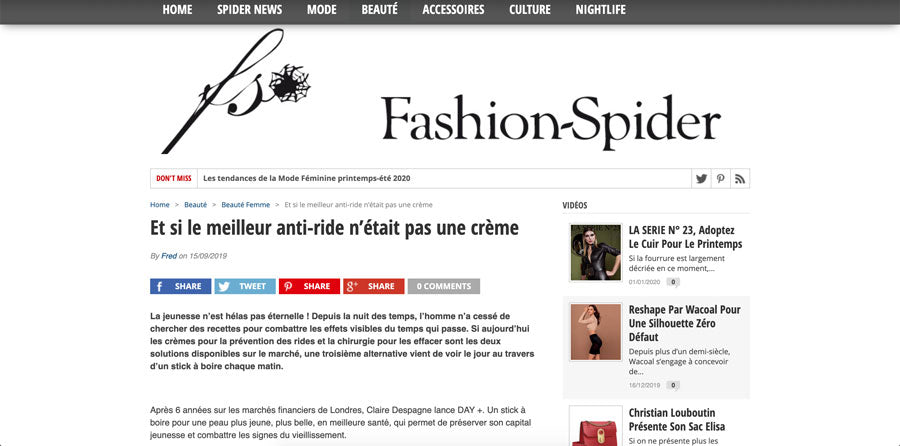 claire despagne d+forcare fashion spider