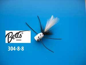 Betts Bee Pop White Speck-Black-White Size 8