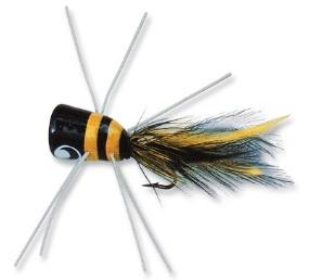 Betts Bass Bug Frog-Black-Yellow Size 1