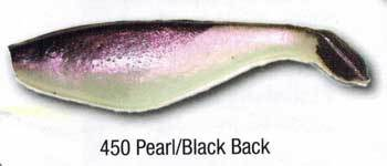 "Luckie Strike Shad Minnow MC 6"" 10ct Pearl-Black Back"