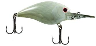 Luck-E-Strike Smoothie Shallow 5-8ft 3-8oz Pearl White Red Eye