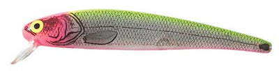Bomber Long A 3-8 Silver Insert-Chartreuse Pink