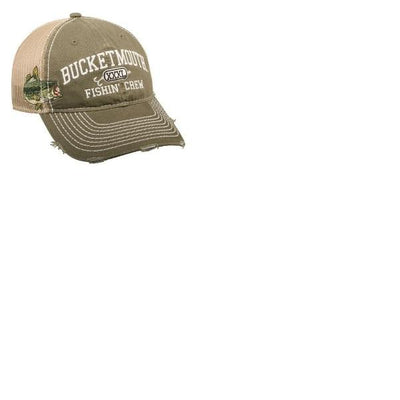 Outdoor Cap Bucket Mouth Mesh Back Olive-Kahki