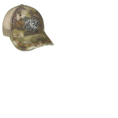 Outdoor Cap Bass Bones Mesh Back Krytex Highlander Tan