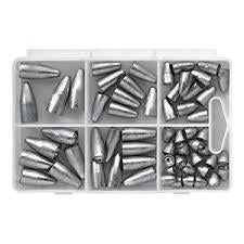 Bullet Weight Pro Assortment Worm Sinker 60ct