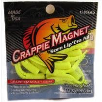 "Leland Crappie Magnet 1.5"" 15ct Opaque Chartreuse"