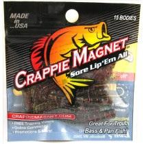 "Leland Crappie Magnet 1.5"" 15ct Watermelon-Red-Black Dude Special"