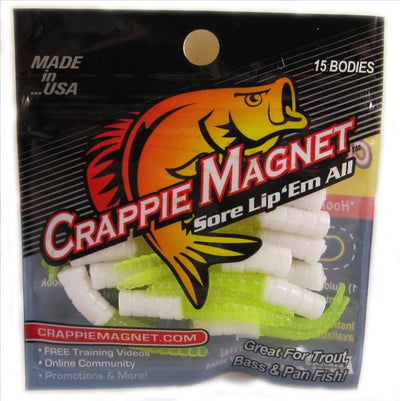 "Leland Crappie Magnet 1.5"" 15ct White-Chartreuse"