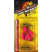 Leland Crappie Magnet Replacement Heads 5ct 1-32oz Pink