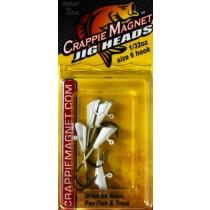 Leland Crappie Magnet Replacement Heads 5ct 1-32oz White