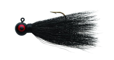 Eagle Claw Bucktail Jig 1-4 4ct Black