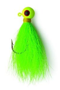 Eagle Claw Bucktail Jig 1-8 4ct Chartreuse