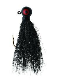 Eagle Claw Bucktail Jig 3-8 4ct Black