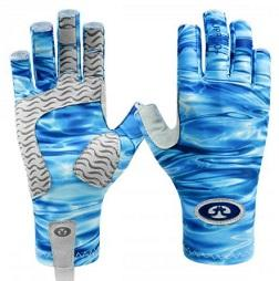 Flying Fisherman SunBandit Pro Series Gloves Blue Water L-XL
