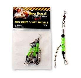 BnM Catfish Gear Pro Series 3-Way Swivels 3ct