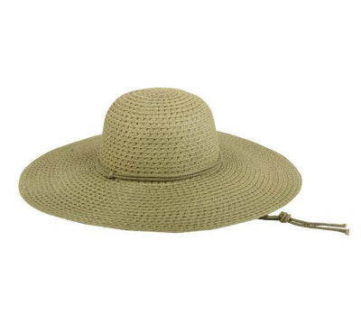Outdoor Cap Ladies Straw Hat - Olive