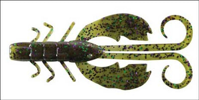 "Berkley Crazy Leg Chigger Craw 4"" Watermelon Candy MCH"