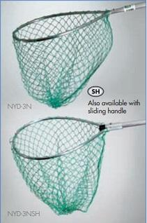 Mid Lakes Green Nylon Pear Landing Net 17x20 Bow 24 Handle