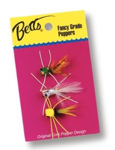 Betts Bass Popper Value Pack Assortment 3pc