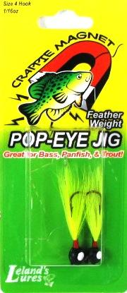 Leland Pop Eye Jig 1-16 2ct Black-Chartreuse