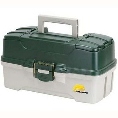 Plano 3-Tray Tackle Box Dk.Green Met.-Off White