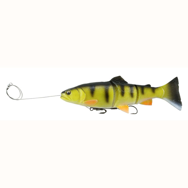 "Savage Gear PreRigged Line Thru Swimbait 12"" 10.75oz Yellow Perch"