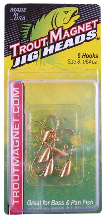 Leland Trout Magnet Heads 1-64 5ct Gold