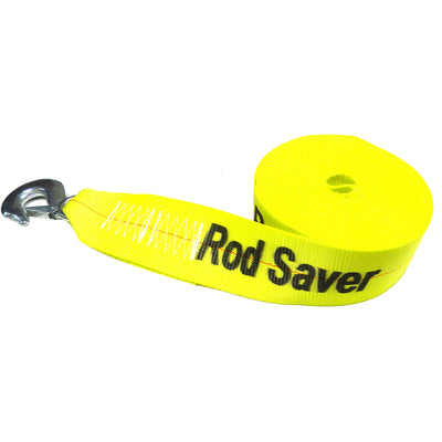 "Rod Saver Heavy-Duty Winch Strap Replacement - Yellow - 3"" x 25'"