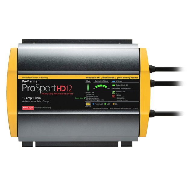 ProMariner ProSportHD 12 Gen 4 - 12 Amp - 2 Bank Battery Charger
