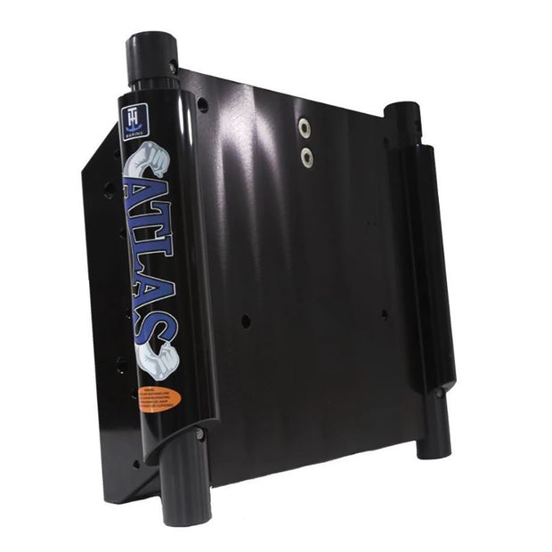 "T-H Marine ATLAS™ 8"" Set Back Hydraulic Jack Plate - Glossy Black Anodized"