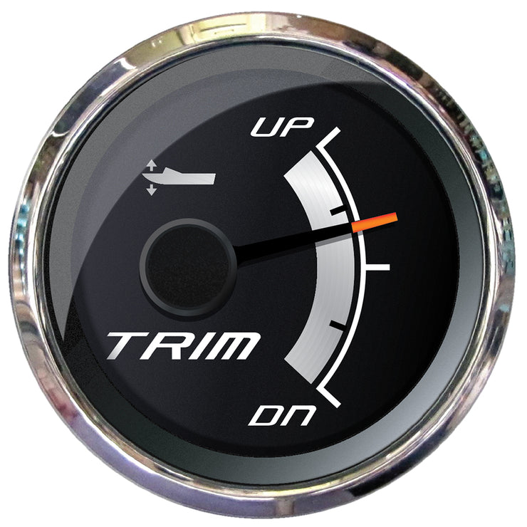 "Faria Platinum 2"" Trim Gauge f-Mercury, Mariner, Mercruiser, Volvo DP, Yamaha 2001 & Newer"