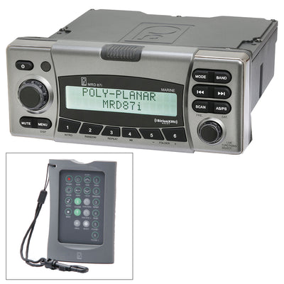 Poly-Planar MRD87i IPX6 Marine Radio AM-FM-BT-SiriusXM-MNEA 2000 w-FREE Wireless Remote
