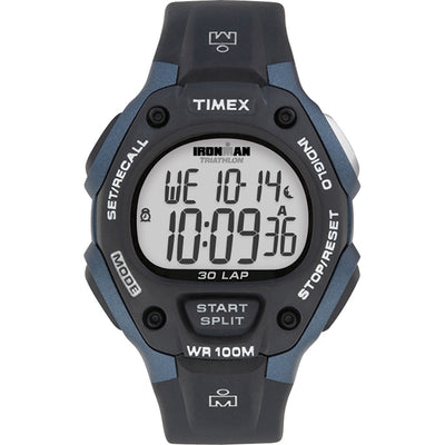 Timex IRONMAN® Classic 30 Full-Size 38mm Watch - Grey-Blue