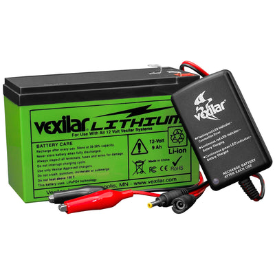 Vexilar 12V Lithium Ion Battery & Charger