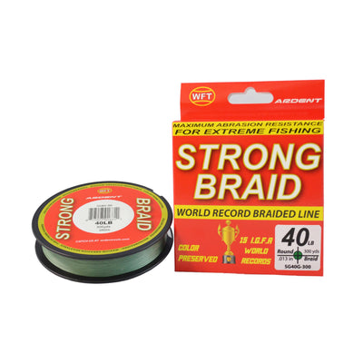Ardent Strong Braid Fishing Line - Green yd