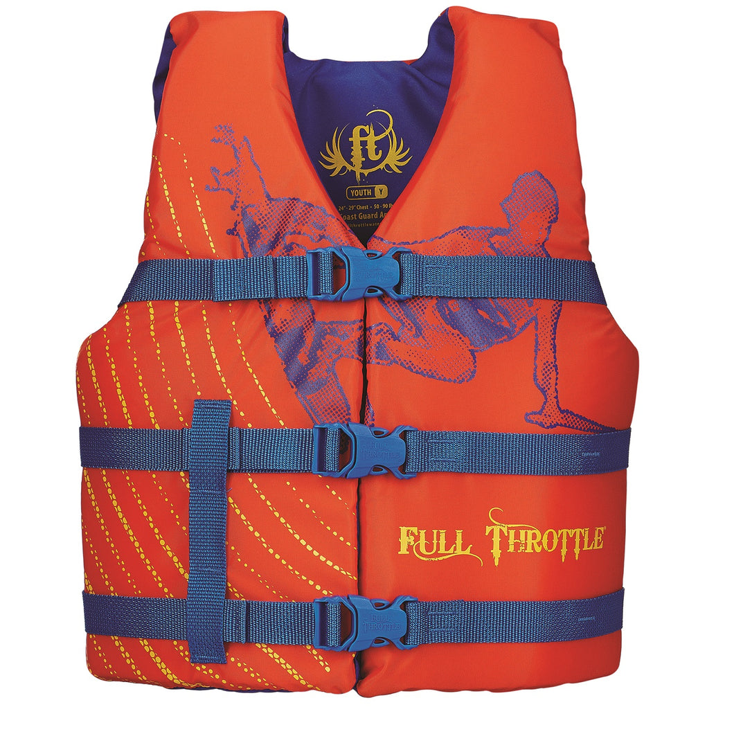 Full Throttle Youth Character Vest-Orange