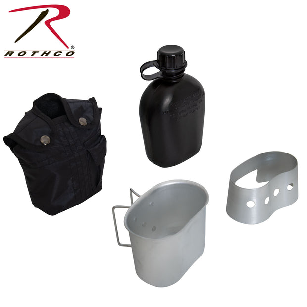 Rothco 4 Piece Canteen Kit With Cover, Aluminum Cup & Stove / Stand