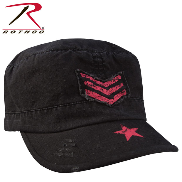 Rothco Women's Vintage Stripes & Stars Adjustable Fatigue Cap