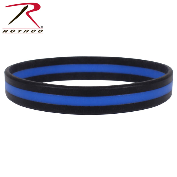 Rothco Silicone Thin Blue Line Bracelet