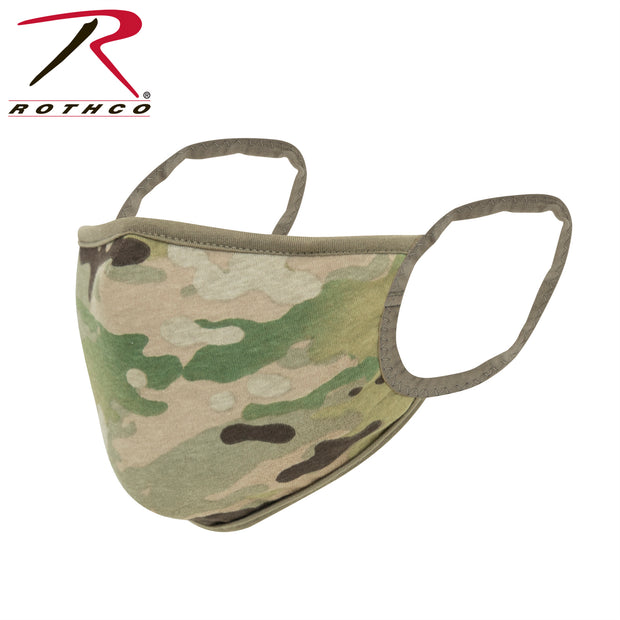 Rothco Reversible Reusable 3-Layer Face Mask - MultiCam / Coyote