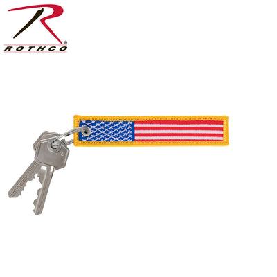Rothco US Flag Patch Keychain