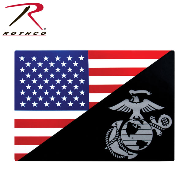 Rothco USMC Eagle, Globe and Anchor Flag Decal (Outside / Back Gum)