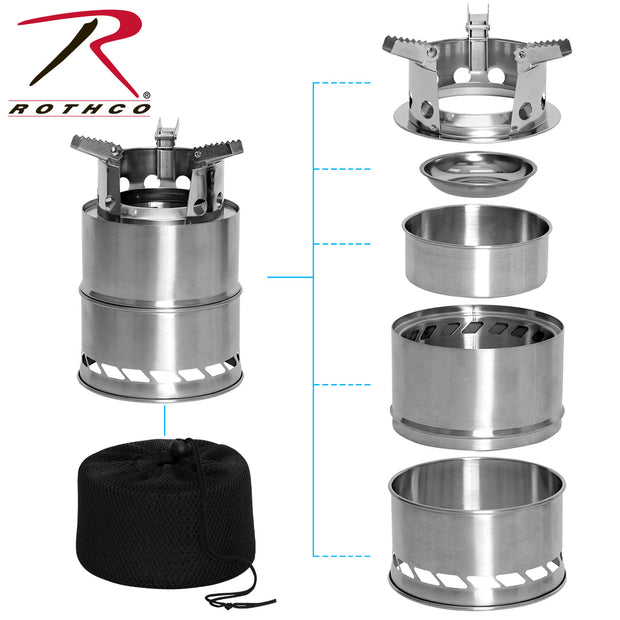 Rothco Stainless Steel Portable Camping / Backpacking Stove