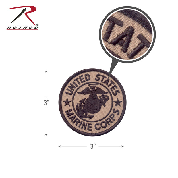Rothco Marine Corps Patch W- Hook & Loop 3""