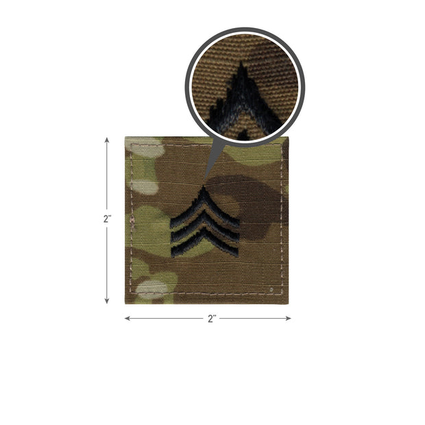 Rothco Official U.S. Made Embroidered Rank Insignia - Sergeant