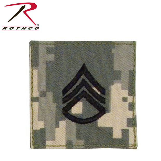 Rothco Official U.S. Made Embroidered Rank Insignia Staff Sergeant Patch