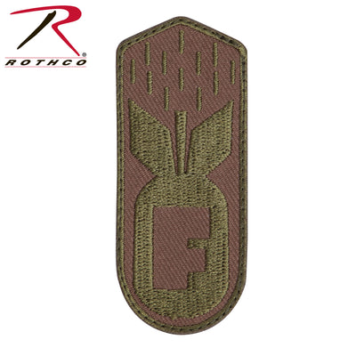 Rothco F-Bomb Patch With Hook Back - Coyote Brown